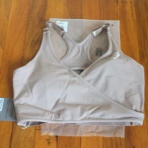 Gymshark Elite Sports Bra in Taupe